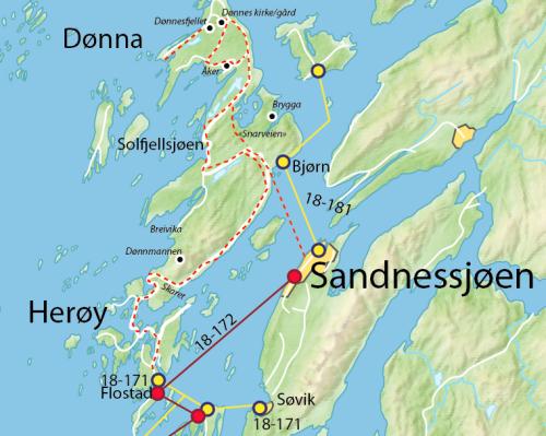 kart over herøy Øyhopping med sykkel på Helgelandskysten kart over herøy