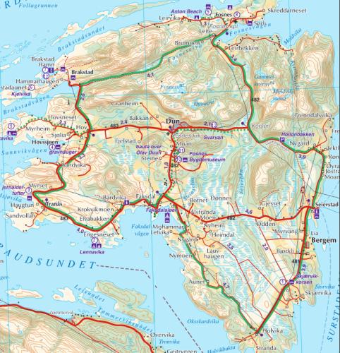kart over jøa Jøa rundt på EL   sykkel fra Namsos kart over jøa